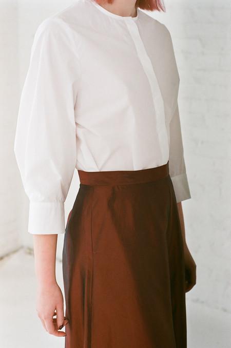 Samuji Sina Button Down Shirt in White