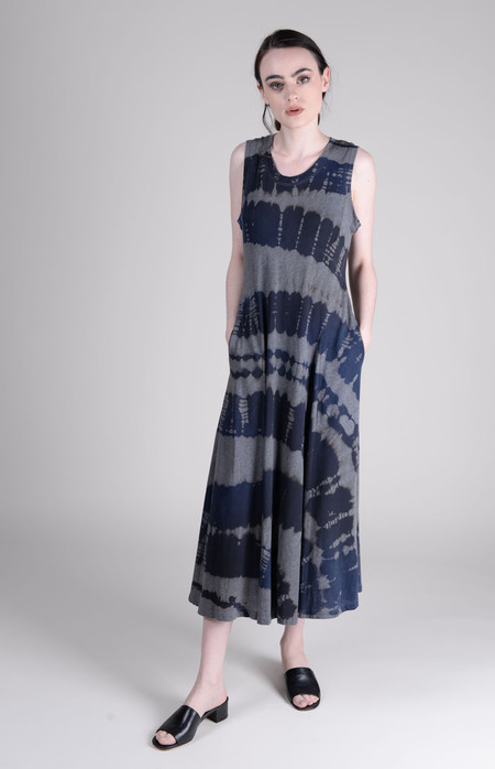 Raquel Allegra Big Sweep Midi Dress Tie Dye