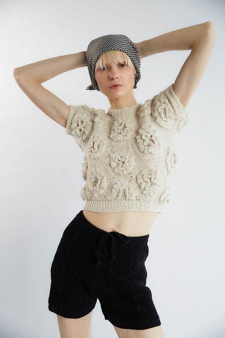 Tach Clothing Polina Crochet Knit Top - CREAM