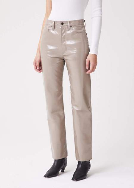 AGOLDE Recycled Leather 90's Pinch Waist - Quail Patent