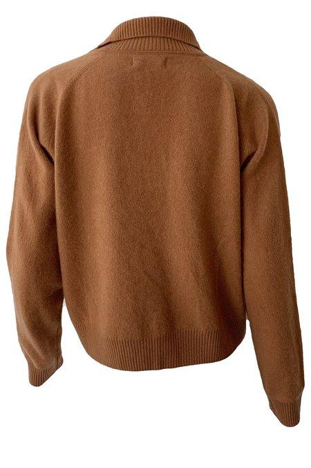 Naadam Cashmere Quarter Zip Sweater - Ginger