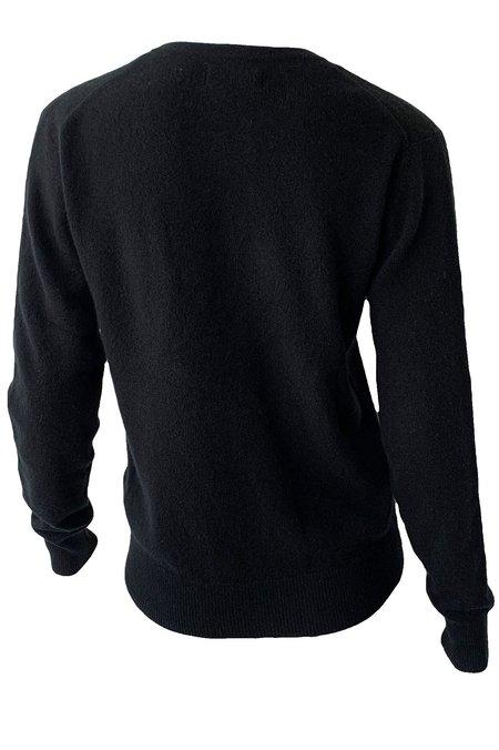 Naadam Cashmere V Neck Pullover - Black
