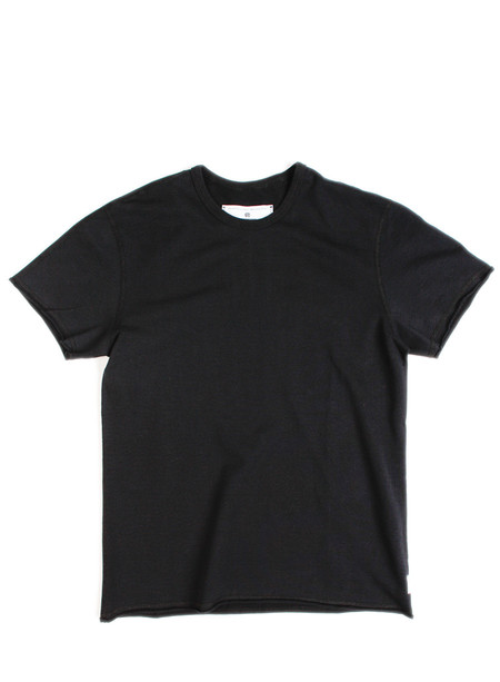 Reigning Champ Raw Edge SS Crewneck Black