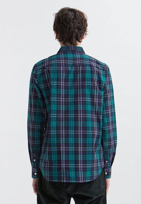 Wood Wood Timothy Check Shirt - Navy
