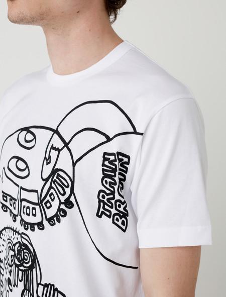 Comme des Garçons Shirt Train Brain Graphic T-Shirt