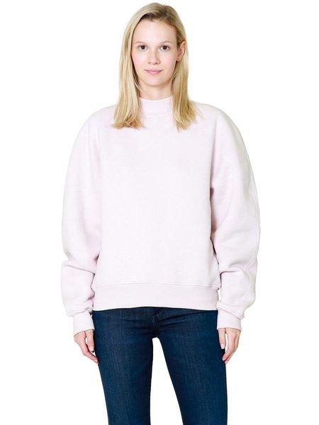 AGOLDE Tarron Mock Neck Sweatshirt - Fondant Heather