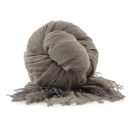 Botto Giuseppe Taupe Silk Cashmere Scarf by Botto Giuseppe