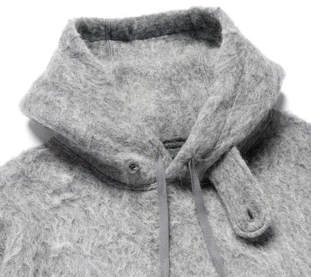 Engineered Garments Long Sleeve Hoody - Heather Mohair