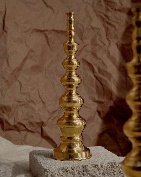 Vintage Candle Holders - gold