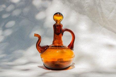 Vintage Petite Decanter - amber