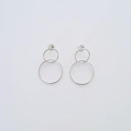 Nepheliad Double Hoop Earrings - Sterling Silver