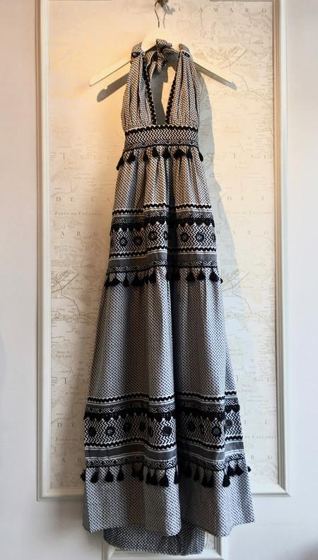 Dodo Bar Or 'David' Halter Dress with Fringe Detail