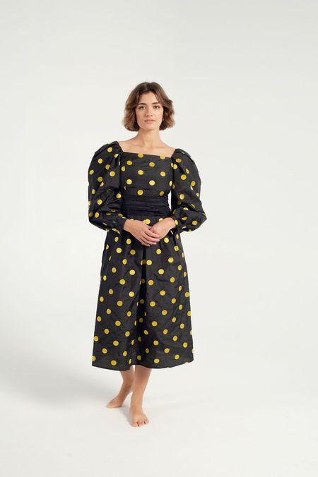 BATSHEVA Bretagne Dress - black