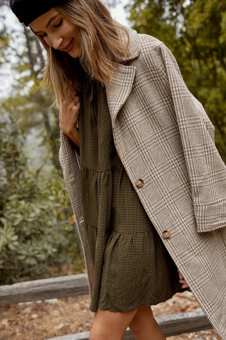 Whimsy + Row Emilia Jacket - Light Grey Plaid