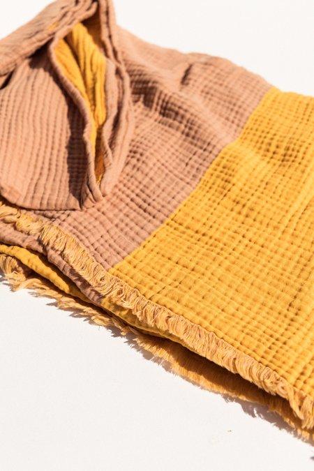 Hay Crinkle Blanket - Stripe Plaid Yellow