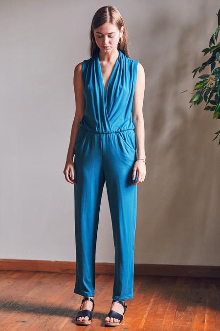 Sarah Liller Penelope Jumpsuit Blue Steel
