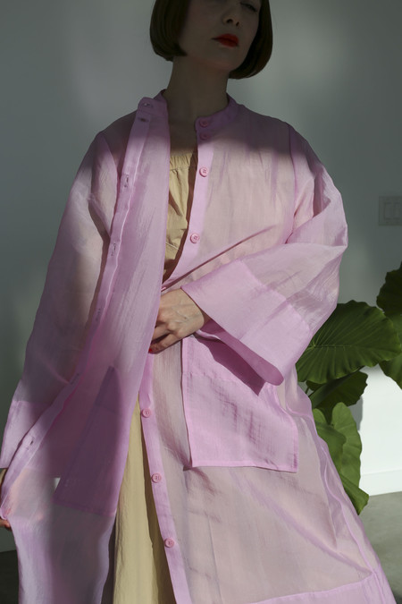 Rodebjer Adela Dress Coat in Bubblegum