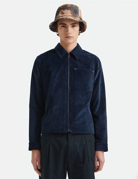 Wood Wood Eban 8w Zip Overshirt - Navy Blue