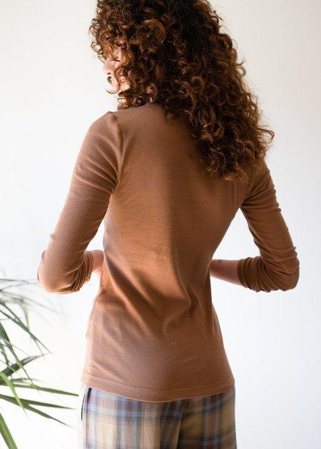 Paper Label Lisa Top - Timber Tan
