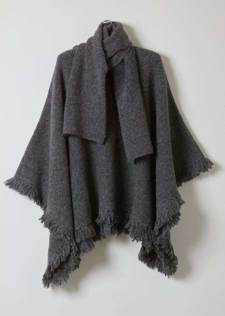 Atelier Delphine Scarf Poncho - Charcoal