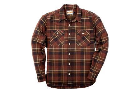 Freenote Cloth Jepson Shirt - Rust Plaid