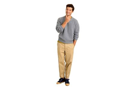 Alex Mill Jordan Washed Cashmere Sweater - Gray