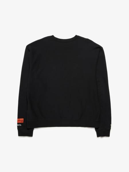 PRE-LOVED Heron Preston U Stork Printed Sweatshirt - BLACK