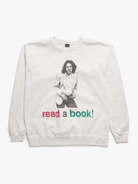 PRE-LOVED Saint Michael Read A Book Sweatshirt - WHITE