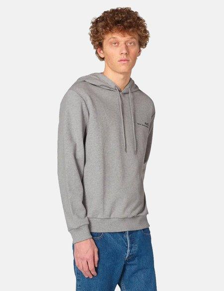 A.P.C. Item Hooded Sweatshirt - Grey