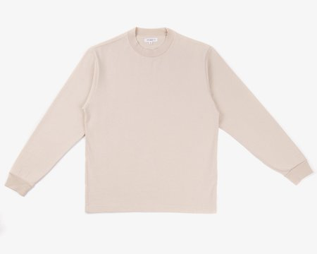 Lady White Co. Long Sleeve Rugby Tee - Natural