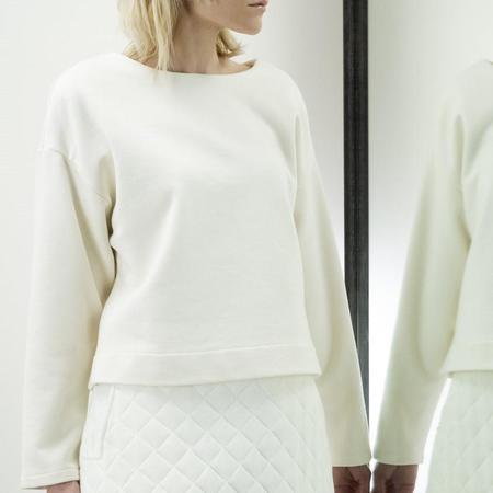 Jude Clothing Central Cotton Fleece Top - Cream