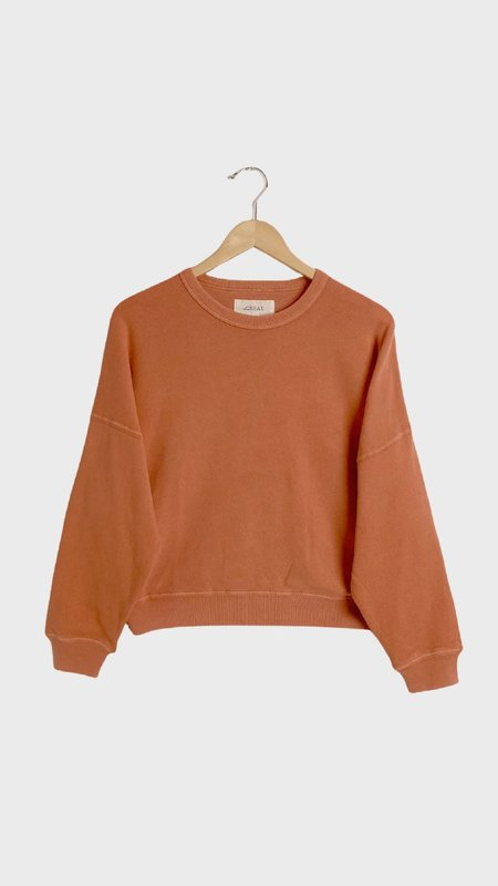 The Great. The Teammate Sweatshirt - Sun Dried Orange