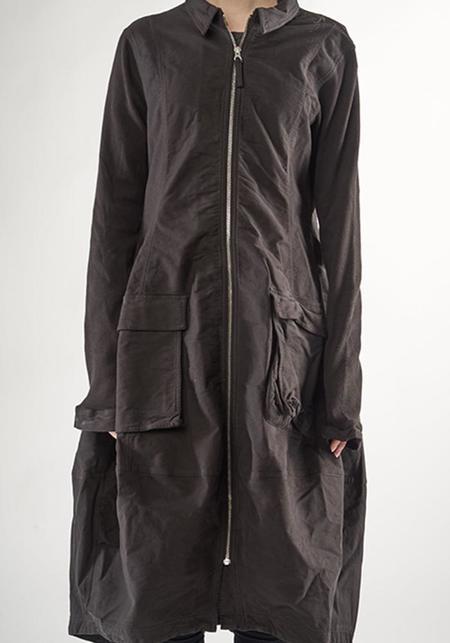 Rundholz Black Label Zip Front Long Sleeve Bubble Dress