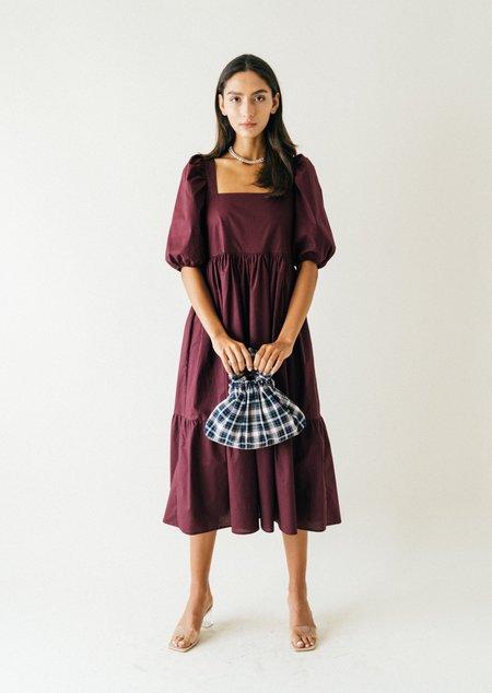 Bronze Age Serenity Puff Dress  -  Blackberry