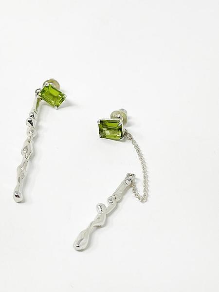 Faris Lava Gem Drop Earrings