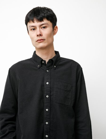 Engineered Garments 19 Century BD Shirt - Black Flannel