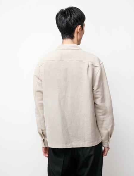 James Coward Workshop Linen Cotton Flax Shirt - White