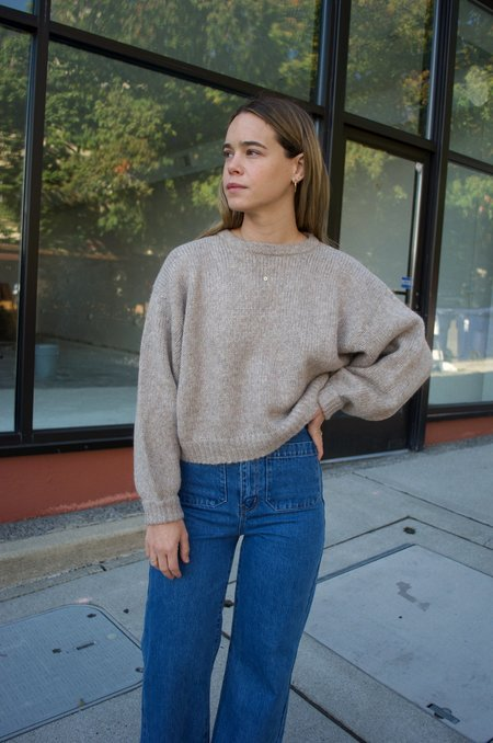 Atelier Delphine Balloon Sleeve Sweater - Deer