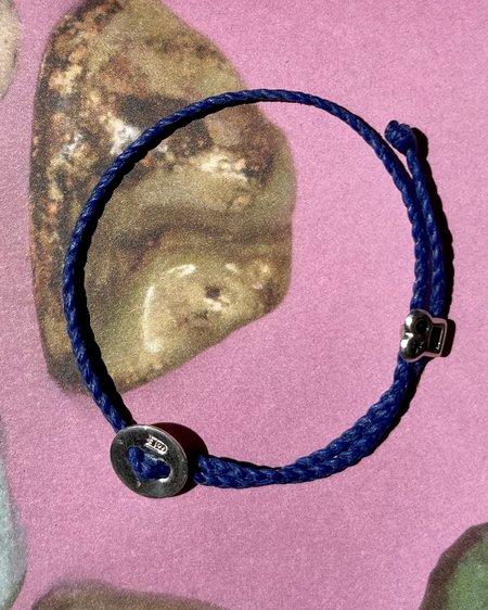 UNISEX SCOSHA x BOW & ARROW ADJUSTABLE SIGNATURE BRACELET - ELECTRIC BLUE