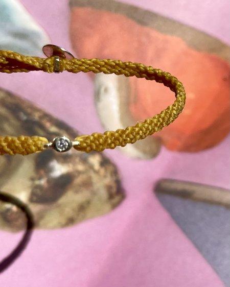 UNISEX SCOSHA x BOW & ARROW CLASSIC DIAMOND BRACELET - MIMOSA YELLOW