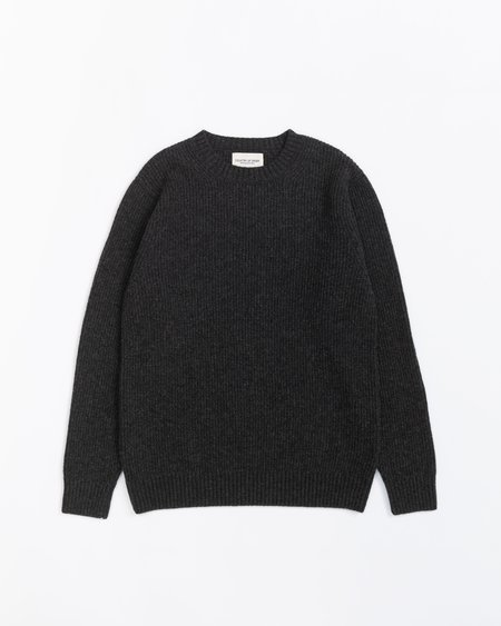 Country of Origin Ribbed Crew - Charcoal
