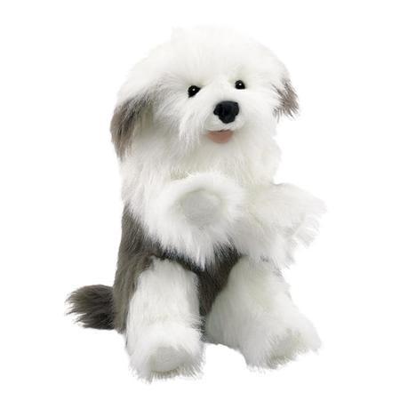kids Folkmanis Sheepdog Puppet toy - white