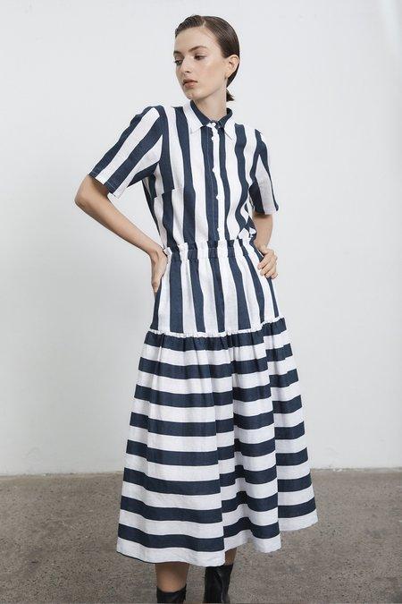 Milk & Thistle Dali Skirt - Sailor Stripe