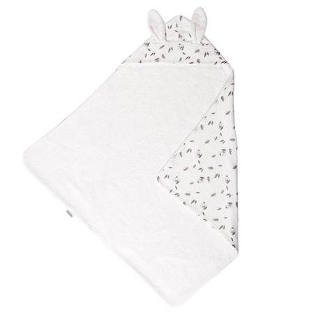 Kids Moulin Roty Aprés La Pluie Rabbit Hooded Towel - White