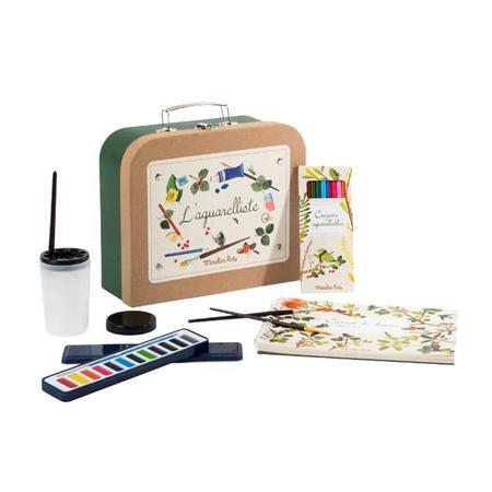 Kids Moulin Roty Le Botaniste Watercolour Artist Case