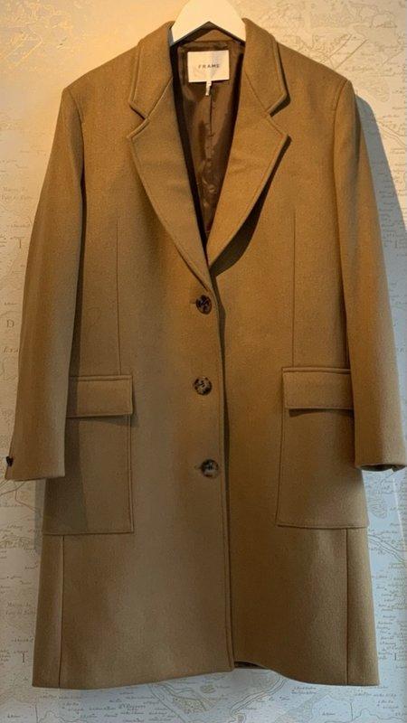 FRAME Denim East Side Wool Coat - Camel