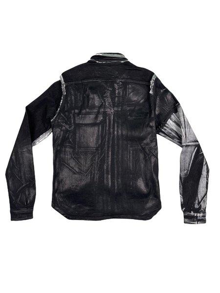 Rick Owens Foil Denim Jacket - Black