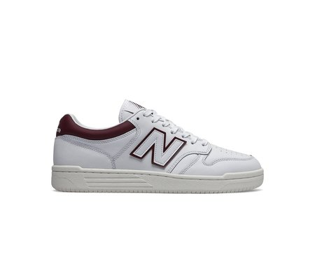 New Balance BB480 Basketball Sneaker - White Burgundy