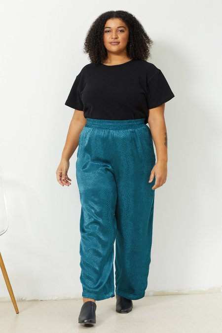 North Of West Ivy Jacquard Pant - Peacock