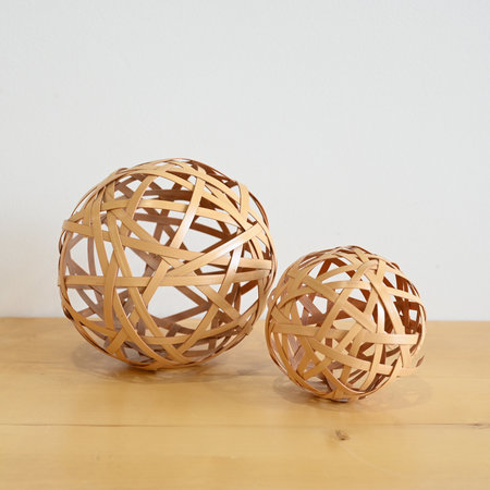 Made Solid Abstract Bamboo Spheres